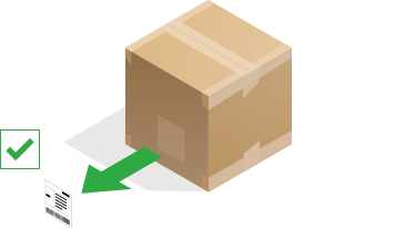 A parcel with label being removed